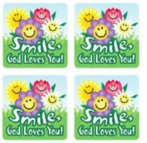 Sticker Pack: Smile, God Loves You!