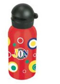 Water Bottle 400ml Stainless Steel: Circles and Joy (Hand Wash Only)