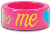 Cherished: He Love Me Fun Colorful Acrylic Ring Size 8