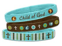 Bracelets: Child of God Stretch Bangles (3 Pack)