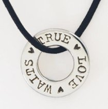 Pendant: True Love Waits Washer (Sterling Silver)