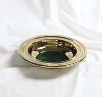 Communion Offering Plate Brass With Green Felt