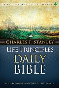 NKJV Charles F. Stanley Life Principles Daily Bible (Black Letter Edition)