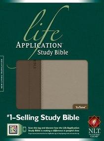 NLT Life Application Study Bible Taupe/Stone