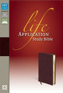 NIV Life Application Study Bible Burgundy (Red Letter Edition)