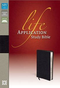 NIV Life Application Study Bible Black Top Grain Leather (Red Letter Edition)