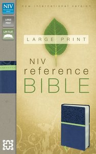 NIV Large Print Reference Bible Blueberry/Melon (Red Letter Edition)