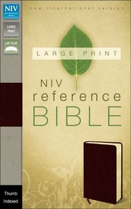 NIV Large Print Reference Bible Burgundy Indexed (Red Letter Edition)