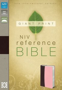 NIV Giant Print Reference Bible Burgundy Pink Duo-Tone (Red Letter Edition)