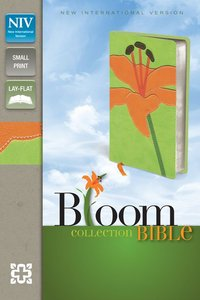 NIV Compact Thinline Bloom Bible Tiger Lily Duo-Tone (Red Letter Edition)
