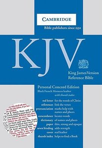 KJV Personal Concord Reference Black Indexed (Red Letter Edition)