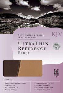 KJV Ultrathin Reference Duo-Tone Brown/Tan