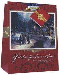 Christmas Gift Bag Medium: Thomas Kinkade God Bless Your Heart and Home