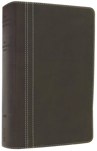 NIV Life Application Study Bible Personal Size Bark/Dark Moss (Red Letter Edition)