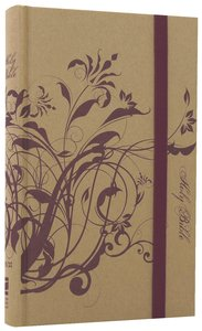 NIV Thinline Craft Bible Plum Floral (Red Letter Edition)