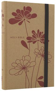 NIV Thinline Craft Bible Red Blossoms (Red Letter Edition)