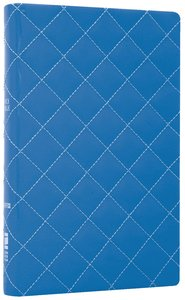 NIV Thinline Bible Quilted Blueberry Duo-Tone (Red Letter Edition)