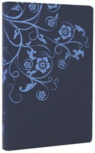NIV Thinline Bible Flora and Fauna Flower/Vine Marina Blue (Red Letter Edition)