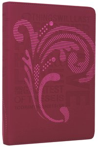 NLT Teen Slimline Bible 1 Cor 13 Hot Pink (Red Letter Edition)