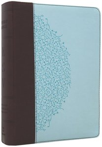 ESV Study Bible Personal Size Chocolate/Blue Ivy Trutone (Black Letter Edition)