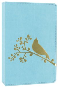 NIV Compact Thinline Bible Flora and Fauna Song Bird Turquoise (Red Letter Edition)