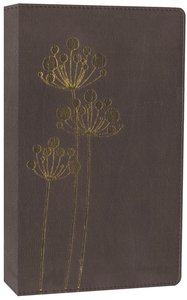 NIV Thinline Bible Flora and Fauna Chocolate/Copper Flowers (Red Letter Edition)