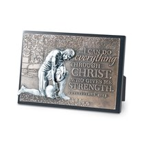 Small Moments of Faith Plaque: Football, I Can Do All Things, Philippians 4:13