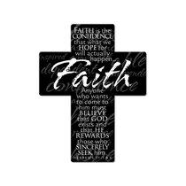 Mini Metal Cross Magnet: Faith