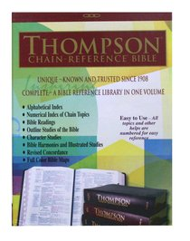 KJV Thompson Chain Reference Burgundy Indexed (Red Letter Edition)