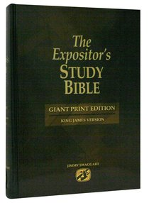 KJV Expositors Study Bible Giant Print