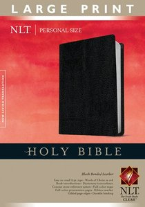 NLT Personal Size Large Print Bible Black (Red Letter Edition)
