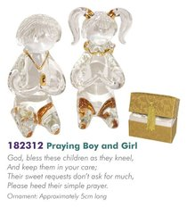 Glass Messengers: Praying Boy & Girl