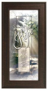 """Framed Plaque: Our Hope (8"""" X 16"""") (Words Of Grace)"""