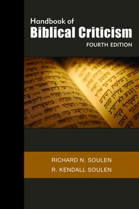 Handbook of Biblical Criticism (4th Edition)