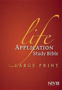 NIV Life Application Bible Large Print Indexed (Red Letter Edition)