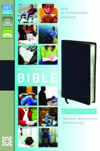 NIV Thinline Large Print Leather Bible