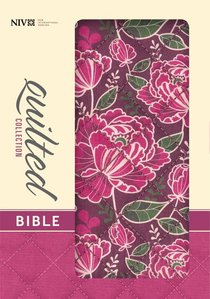 NIV Compact Thinline Bible Quilted Burgundy Floral (Red Letter Edition)