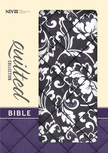 NIV Compact Thinline Bible Quilted Black Floral (Red Letter Edition)