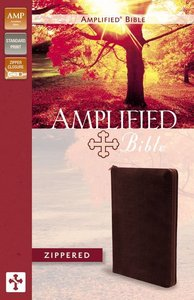 Amplified Zippered Collection Bible Burgundy