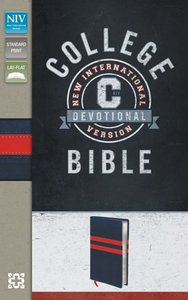 NIV College Devotional Bible Navy/Red