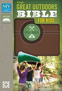 NIV Great Outdoors Bible For Kids Bark Brown (Red Letter Edition)