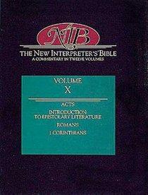 Acts-1 Corinthians (#10 in New Interpreters Bible Series)
