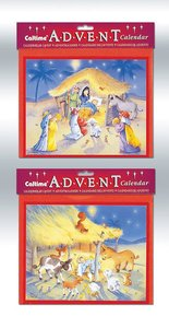 Advent Calendar: Baby in Manger With Envelope 2 Pack