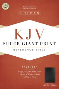 KJV Super Giant Print Reference Black Indexed (Red Letter Edition)