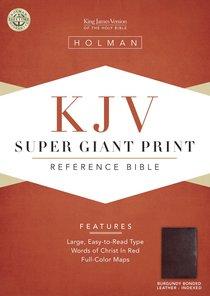 KJV Super Giant Print Reference Burgundy Indexed (Red Letter Edition)