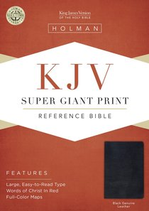 KJV Holman Super Giant Print Reference Black (Red Letter Edition)