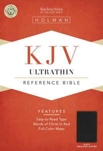 KJV Ultrathin Reference Bible Black Leathertouch