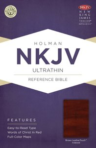 NKJV Ultrathin Reference Indexed Bible Brown