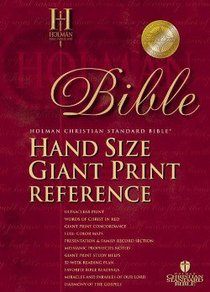 HCSB Hand Size Giant Print Reference Classic Edition Tan