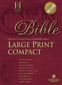 HCSB Compact Burgundy (Red Letter Edition) (Large Print)